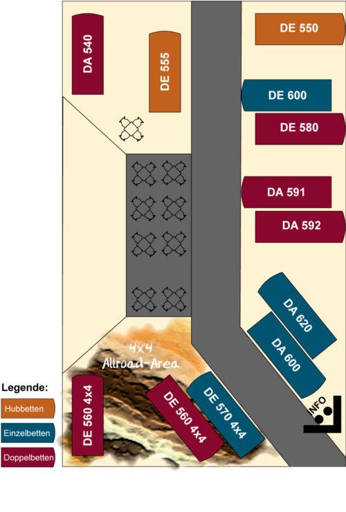 Karmann-Mobil Standplan CMT 2020