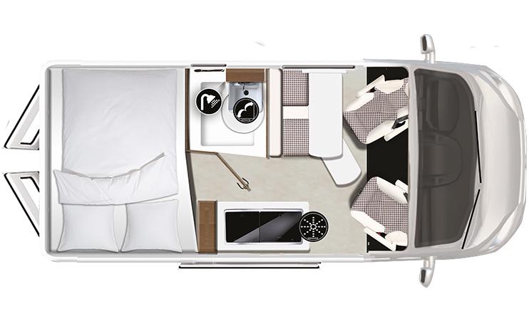 Karmann-Mobil Davis 540 Lifestyle Grundriss