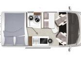 Karmann-Mobil Davis 540 Trendstyle Grundriss