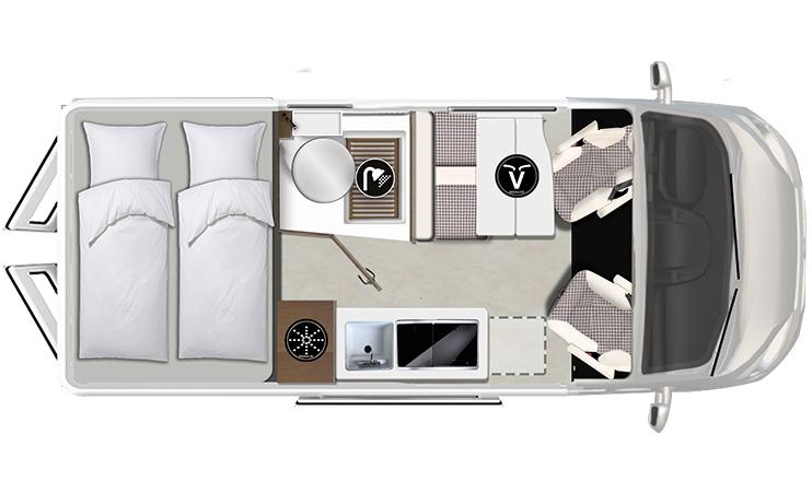 Karmann-Mobil Davis 590 Lifestyle Grundriss