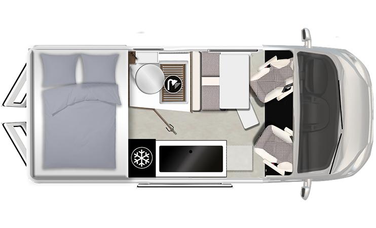 Karmann-Mobil Davis 590 Trendstyle Grundriss