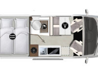 Karmann-Mobil Davis 591 Lifestyle Grundriss
