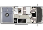 Karmann-Mobil Davis 591 Trendstyle Grundriss