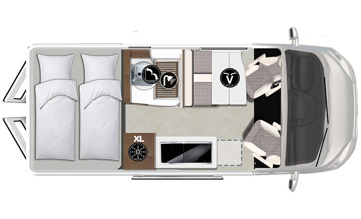 Karmann-Mobil Davis 592 Lifestyle Grundriss