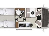 Karmann-Mobil Davis 600 Lifestyle Grundriss