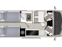 Karmann-Mobil Davis 620 Trendstyle Grundriss