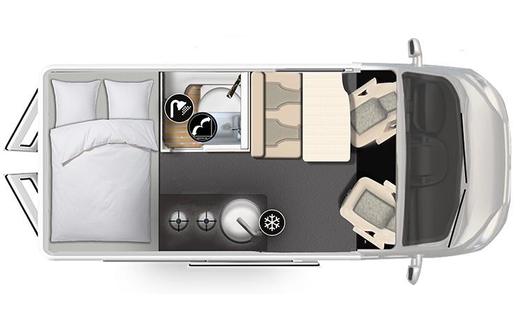 Karmann-Mobil Dexter 540 Grundriss