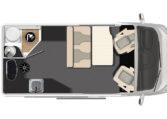 Karmann-Mobil Dexter 550 Grundriss