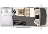 Karmann-Mobil Dexter 560 4x4 Grundriss