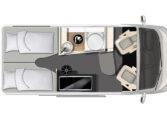 Karmann-Mobil Dexter 600 Grundriss