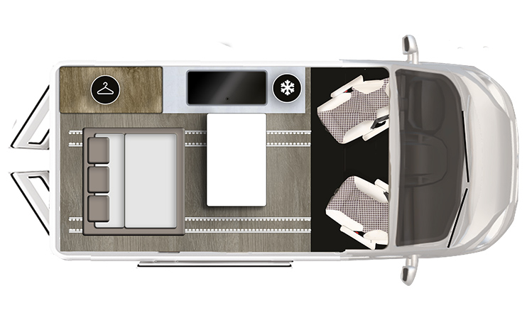 Karmann-Mobil Duncan 495 Grundriss