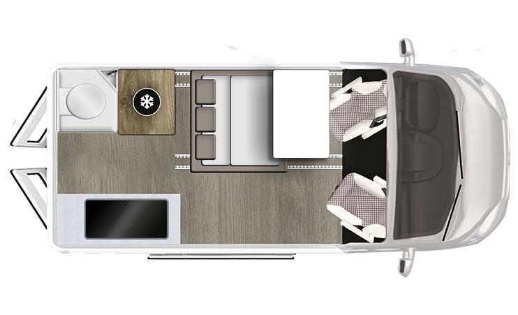 Karmann-Mobil Duncan 535 Grundriss